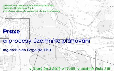 UMPRUM: Mimořádná přednáška Urbanismus 3 a 4